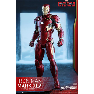 Hot Toys – 1/6 scale MMS353D16 – Captain America: Civil War – Ironman Mk 46 diecast