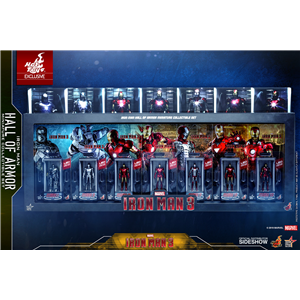 Hot Toys exclusive - Iron Man 3 - Iron Man Hall of Armor Miniature Collectible